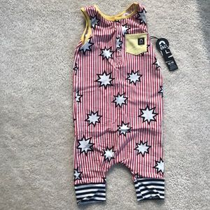 Rags to Raches 12-18 month red tank henley